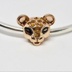 Sparkling Lion Princess Rose Gold Handmade Charm